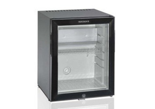 HorecaTraders Kleine koelkast met glazen deur zwart - 41 liter