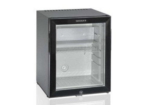 HorecaTraders Kleine koelkast met glazen deur zwart - 51 liter
