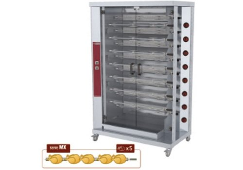 Diamond Kippengrill Gas  15 Spitten | 75 Kippen
