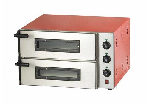 Combisteel Dubbele Pizzaoven 3000 Watt | 2 Pizza's