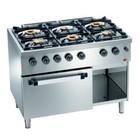 Diamond Horeca Stove and Oven with Gas | 6 Burners