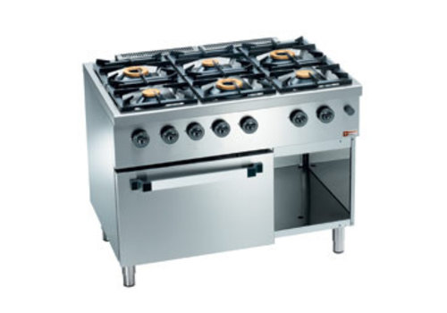 Diamond Horeca Stove and Oven with Gas | 6 Burners