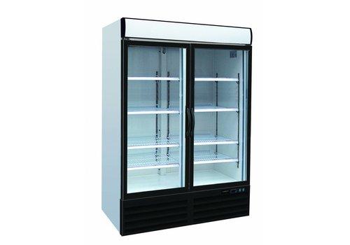HorecaTraders Freezer Force Black with 2 doors