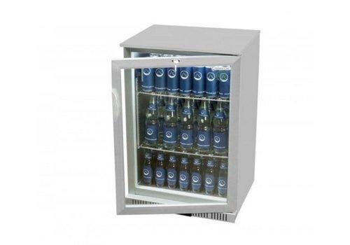 HorecaTraders Bar fridge door 1 Silver 90x60x52 cm