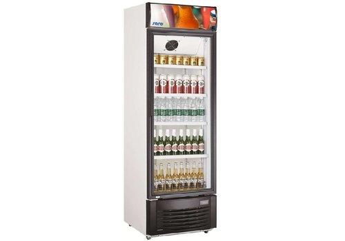 HorecaTraders Flaschen Kühlschrank mit Glastür | 62x63x193 cm