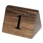 HorecaTraders Hölzerne Tabellen-Zahlen 1 t / m 30   3 Sätze