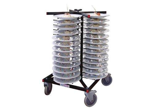 Jackstack Tellerhalter mit Rädern | 52 Räder