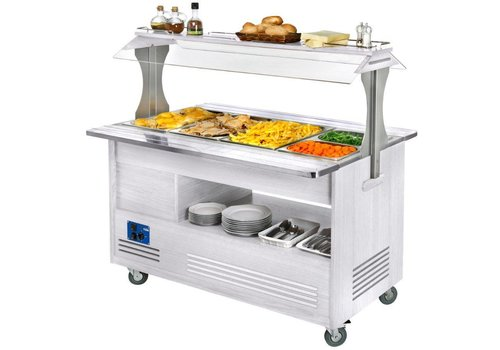 Diamond Bain Marie Buffet Eiland 4 x 1/1 GN | Warmhoud
