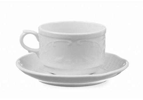 Hendi Weißes Porzellan Teller | Ø 13 cm (6 Stück)