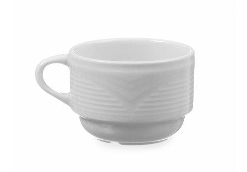 Hendi Porzellan-Cappuccino-Tasse Weiß   230 ml (6 Einheiten)