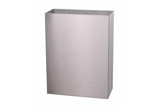 HorecaTraders Waste bin stainless steel toilet