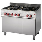 Gastro-M Gas Stove with Built-in Oven | 6 burners