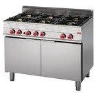 Gastro-M Gas stove with gas oven | 6 Burners