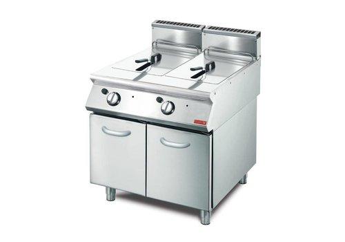 Gastro-M gas friteuse 2 x 13L | 85 x 80 x 70 cm | 20,4kW