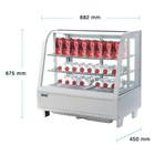 Polar Chilled white table vitrine 102 Liter -TOPPER!