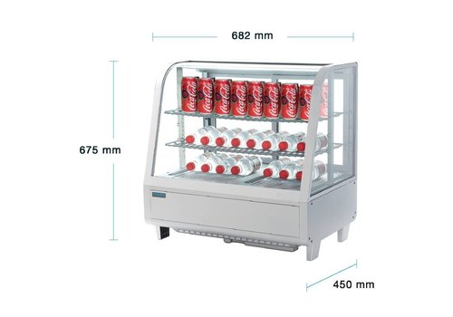 Polar Chilled white table vitrine 102 Liter -TOPPER!