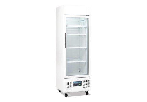 Polar Cans Kühlvitrine mit Rädern 220 Liter - weiß