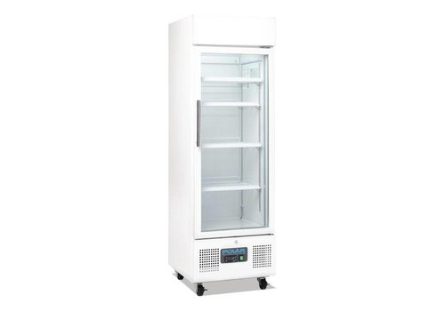 Polar Refrigerated display case White | 220 L | With Lock