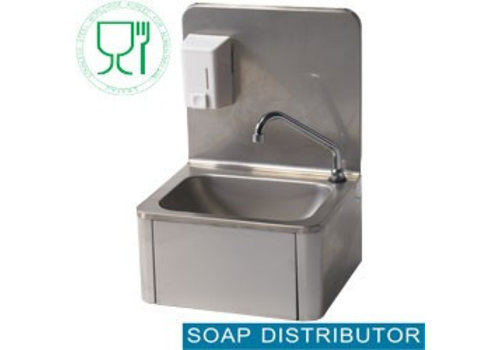 Diamond Stainless steel sink with knee operation and soap dispenser