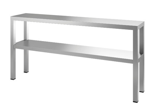 HorecaTraders Etagere Dubbel 160x35x65 cm (bxdxh)