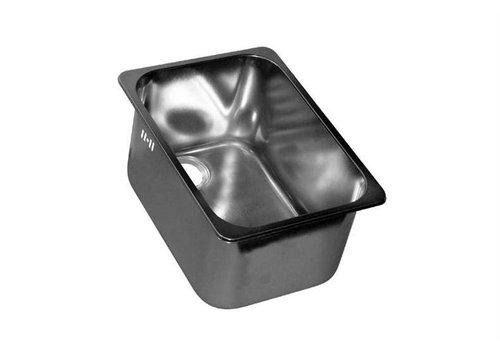 HorecaTraders RVS Rechthoekige Spoelbak Met overloop | 2 Formaten