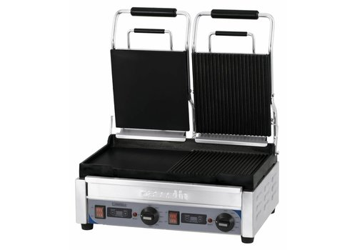Casselin Dubbele rvs Contact Panini Grill | Smooth / gegroefde