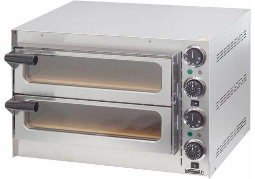 Casselin RVS Pizza Oven 2 kamers | Ø35cm