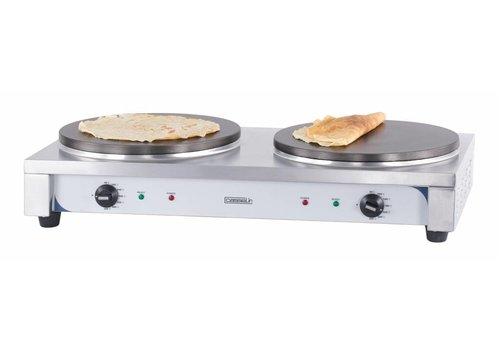 Casselin Stainless Steel Double Electric Crepe | 2x40cmØ