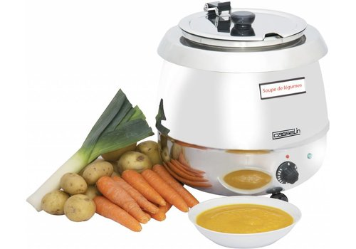 Casselin Stainless Steel Soup Kettle | 9 liter