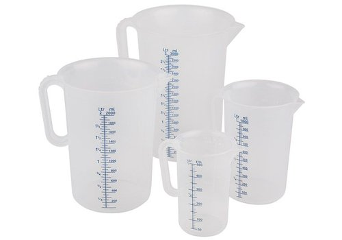 HorecaTraders Plastic measuring cup | 5 Formats