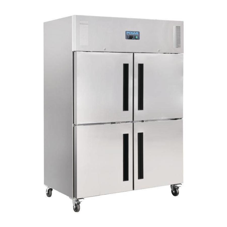 Polar Edelstahl-Kühlschrank 2x2 Türen | 1200 Liter - Schnell und ...