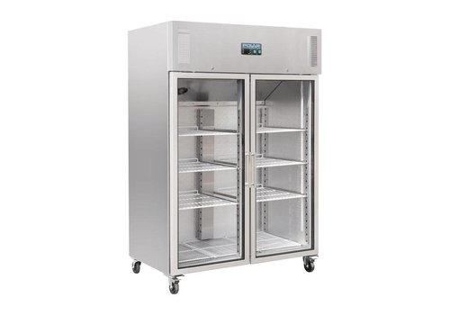 Polar Company cooler with 2 glass doors stainless steel