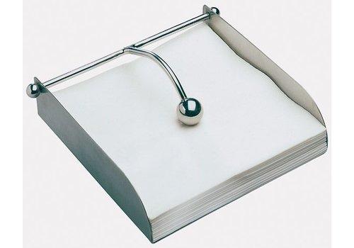 HorecaTraders Edelstalen Servettenhouder | 17x17x5cm