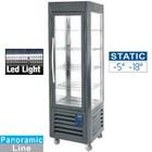 Diamond Stainless steel Freezer Showcase | 5 levels | 360 liters | hard coal