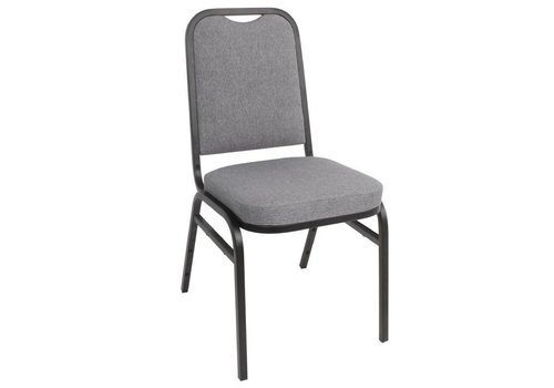 HorecaTraders Bolero Banquet Chair Gray Steel | 4 pieces