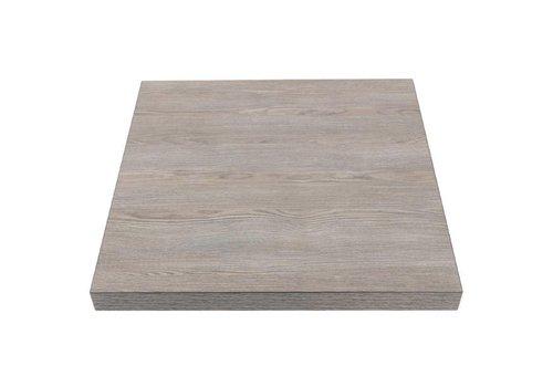 Bolero Vierkant tafelblad Vintage Wood | 60 cm