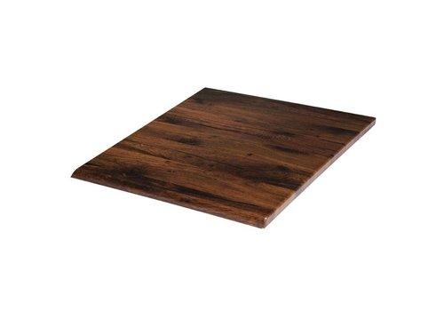 Werzalit Vierkant tafelblad Antique Oak | 70 cm