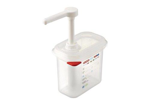 Araven Soßendispenser GN 1/9 transparent - 1,5 Liter