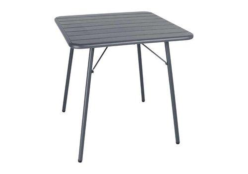 Bolero Vierkantstahlklapptisch grau | 70 cm