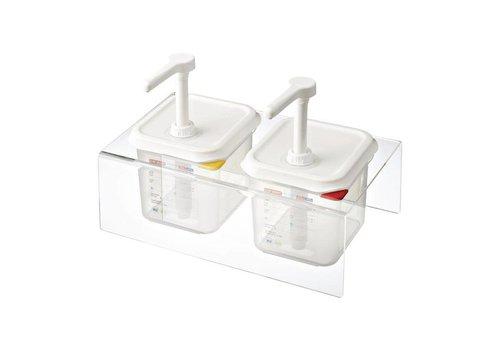 Araven Set bestehend aus 2-Sauce Spender GN 1/6 transparent 2,6ltr