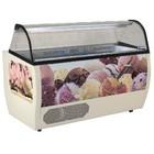 Diamond Scoop Eis-Display für Ice Cream 177x93x128 cm | 13 Behälter