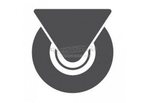 Combisteel Castor 6 Stück (2 gehemmt, ungehemmt 4)