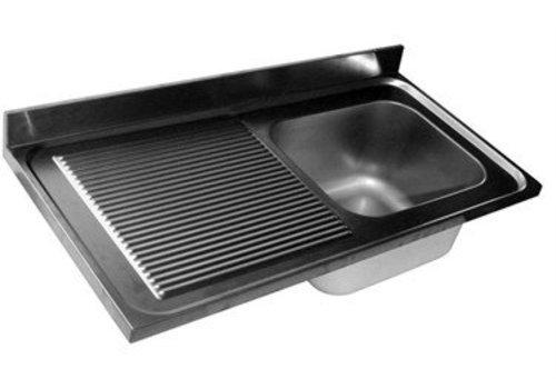HorecaTraders Spoeltafelbald | 1 sink right | 4 formats
