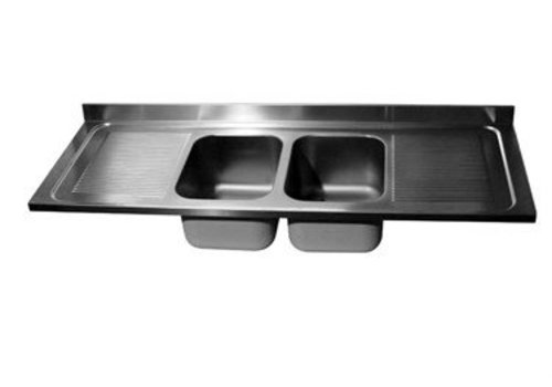 HorecaTraders Washbasin | 2 sinks in the middle | 4 formats