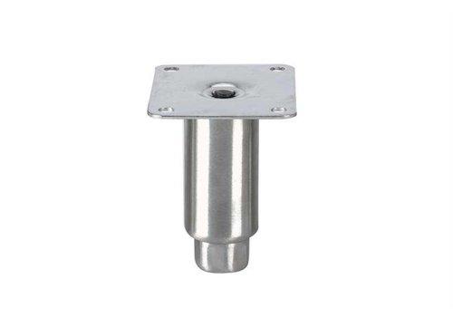 HorecaTraders Stainless steel adjustable legs topline   100 x Ø41 mm