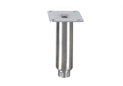 HorecaTraders Stainless steel adjustable legs topline   150 x Ø41 mm