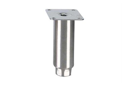 HorecaTraders Stainless steel adjustable legs topline   150 x Ø50 mm