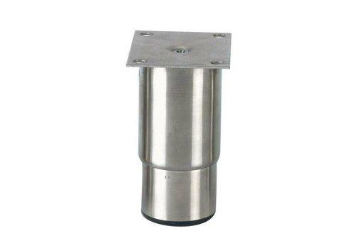 HorecaTraders Stainless steel adjustable legs ink   145 x 100 x 80 mm