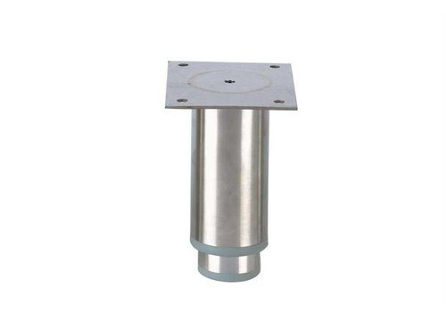 HorecaTraders Stainless steel adjustable legs ink   125 x 102 x 82 mm
