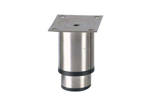 HorecaTraders Stainless steel adjustable legs hospitality line   90 x 100 x 80 mm
